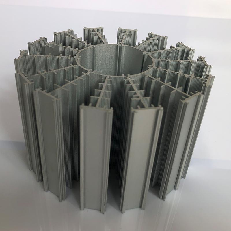 兴浍丰工业铝材厂家定制 非标散热器切割 cpu电源散热器