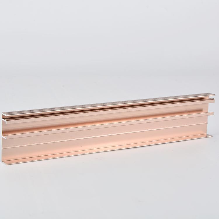 炘洋铝合金滑轨厂家 阳极氧化门窗轨道加工 冲压铝型材配件