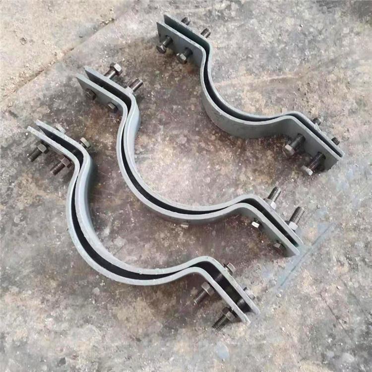河北重型双螺栓管夹 U型管夹 汇和管道厂家