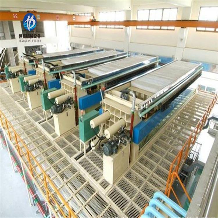 洗煤厂用板框式压滤机厂家 泥浆压滤机价格 恒泉 老厂直营