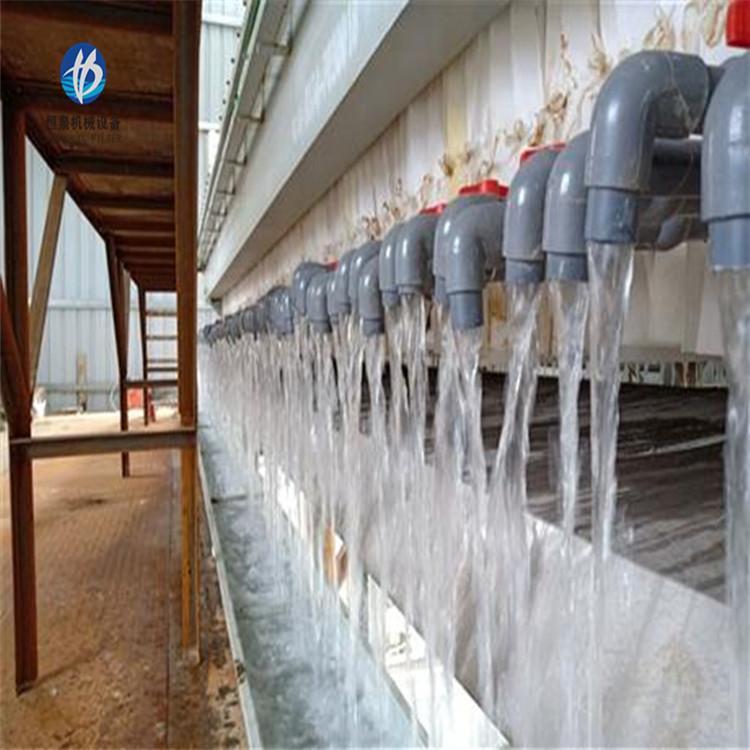 全自动泥浆压滤机 板框式污泥压滤机价格 恒泉 压滤机厂