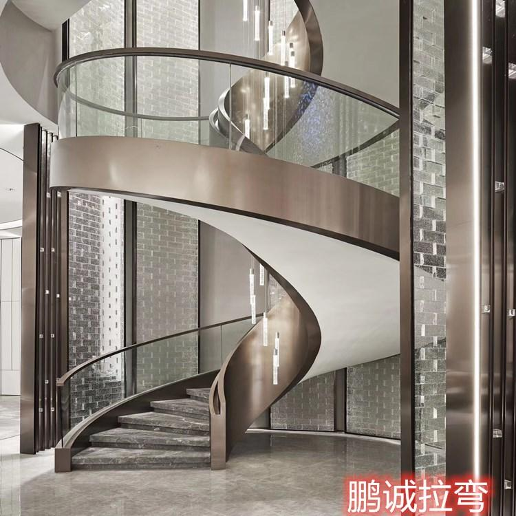 旋转楼梯定制 室内旋转楼梯加工 量大从优 鹏诚