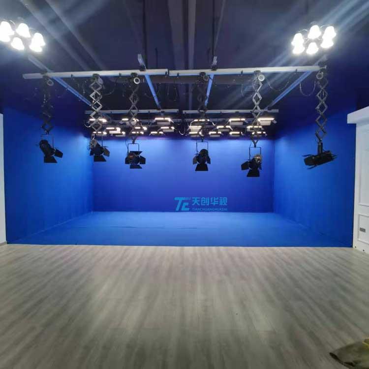 天创华视虚拟演播室搭建 蓝绿箱虚拟抠像演播室 4K演播室搭建