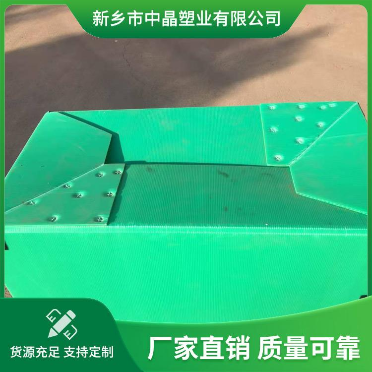 中晶塑料折叠箱 家用折叠周转箱 折叠中空板 颜色多样