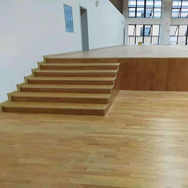 明都 舞台运动木地板 实木运动木地板 厂家