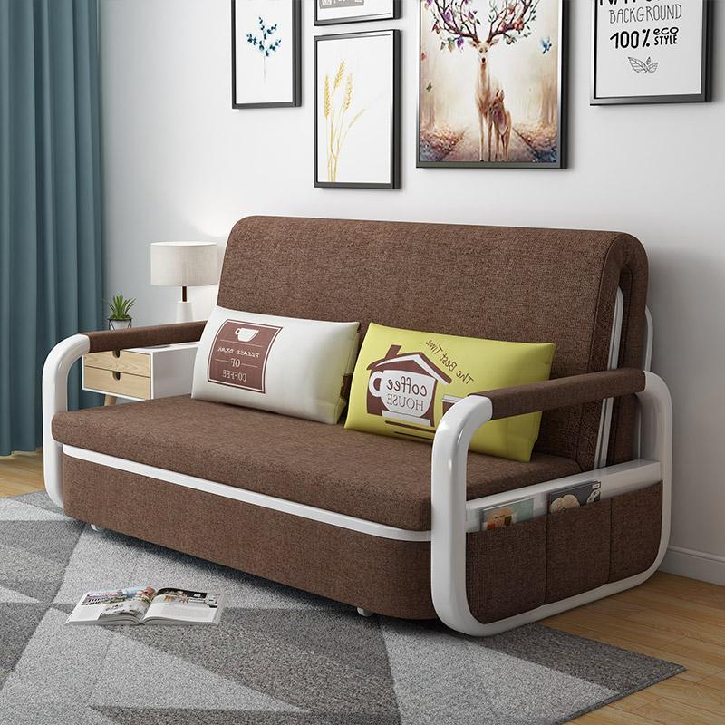 沙发床 坐卧沙发 折叠多功能沙发床 布艺网红款伸缩单人床家用小户型坐卧沙发床两用