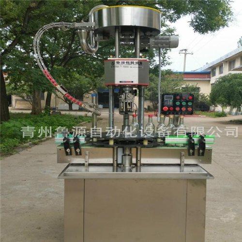 全自动耗油灌装机 山东鲁源 全自动铝盖旋盖机