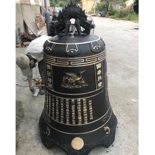 大型铸铁钟现货 大型铸铁钟铸造厂 茂来雕塑 大型铸铁钟