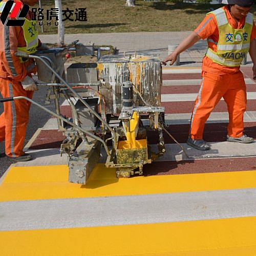 路虎交通 市政道路热熔标线涂料刮涂标线工程