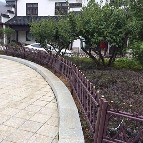 景观不锈钢仿竹篱笆造价 公园不锈钢仿竹篱笆报价 弘更