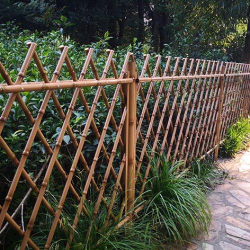 弘更 公园不锈钢仿竹篱笆批发 景区不锈钢仿竹篱笆造价