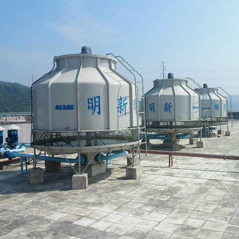 深圳批发方形发电机冷却塔玻璃钢圆形冷却塔