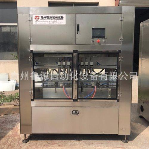鲁源油类灌装 称重式米糠油灌装机设备 全自动米糠油灌装机机械