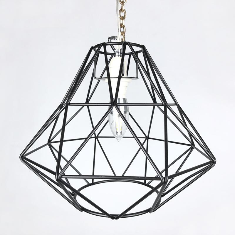 工业复古吊灯单头铁艺简约餐厅吊灯小铁笼创意办公室灯具厂家加工