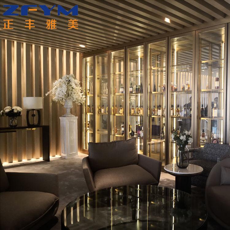 定做酒店红酒柜设计 正丰雅美 定制酒店红酒柜设计