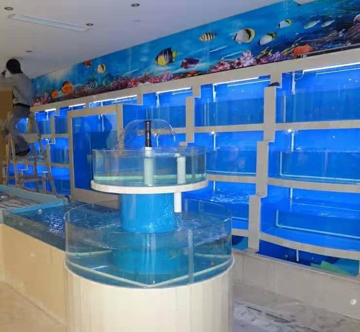 中山东区专业定做海鲜鱼池中山超市商场专业定做海鲜鱼池的公司怎么联系专业定做海鲜鱼池