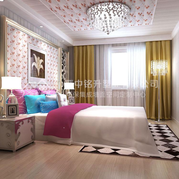 豪庭韵佳集成墙板 网吧护墙板安装 卧室护墙板安装