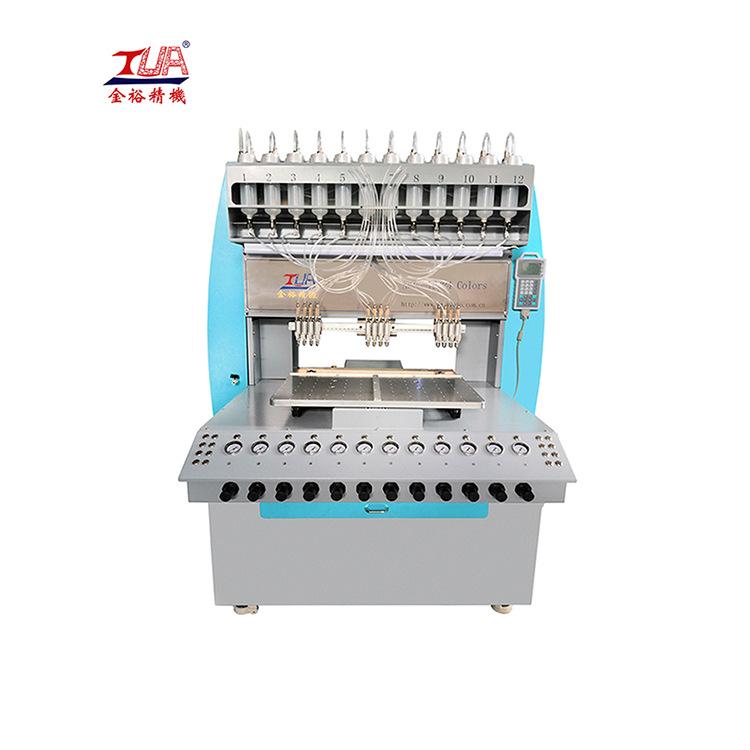 硅胶商标滴胶机 东莞全自动多色硅胶点胶机厂家直销