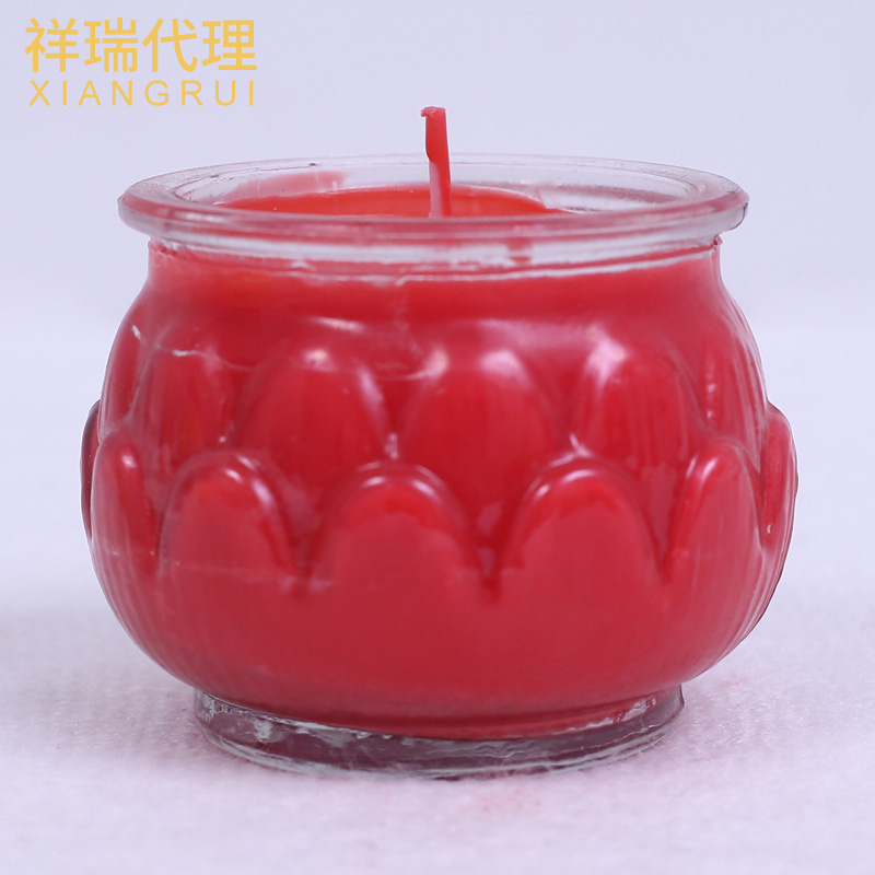 供应梅花粒酥油蜡烛 3小时28粒塑料胶壳植物酥油灯 佛前无烟供灯