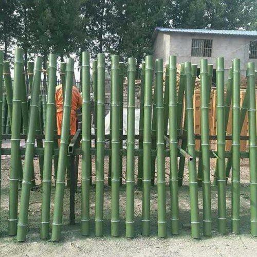 风景区仿竹围栏订制 山东仿竹围栏批量出售 丽景建材