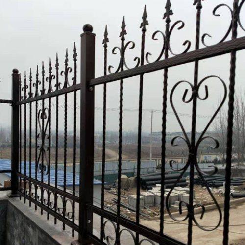 阳台铸铁围栏规格 围墙铸铁围栏配件 桂吉