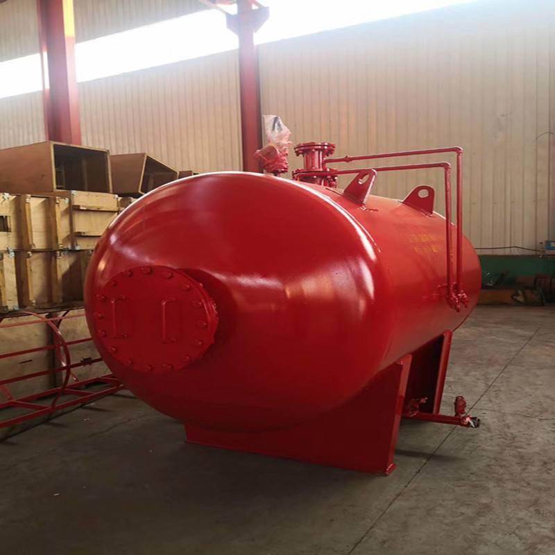 山东带胶囊泡沫消防罐PHYML32/50卧式压力式泡沫比例混合装置压力式消防泡沫罐