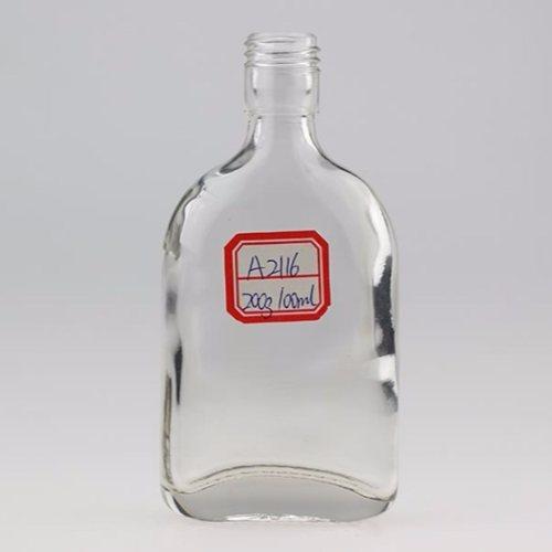 烤花玻璃酒瓶生产 晶白料玻璃酒瓶工厂直销 金诚