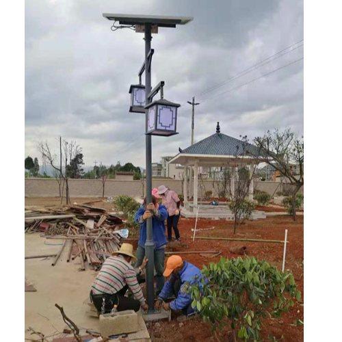 LED民族特色太阳能路灯生产 玉盛 暖光民族特色太阳能路灯推荐
