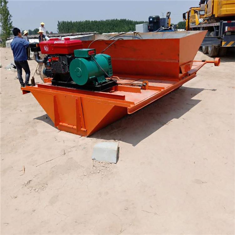 全自动渠道成型机 排水沟滑模机拉膜机 水渠成型机