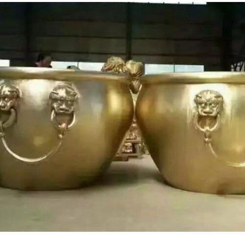 博轩铜雕塑 风水故宫铜大缸铸造厂 1米故宫铜大缸生产厂
