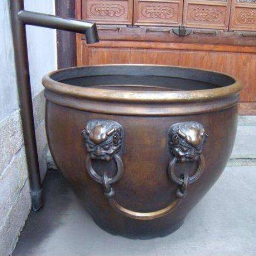 2米纯铜大缸铸造厂 博轩铜雕塑 风水纯铜大缸厂家