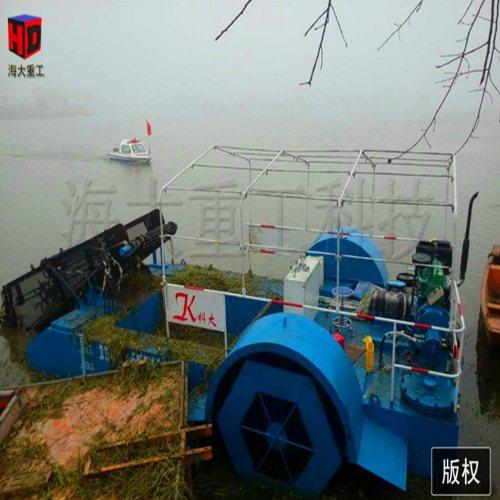 海大重工 水花生芦苇环保采集船厂家 口碑好的水草打捞采集船 买割草船