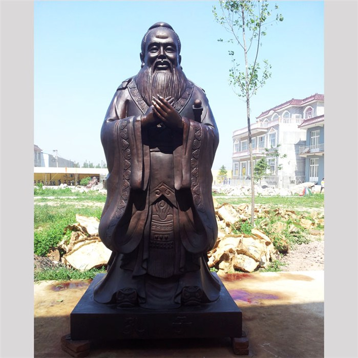孔圣人铜像铸造厂 河北昌盛铜雕 大型孔圣人铜像铸造厂