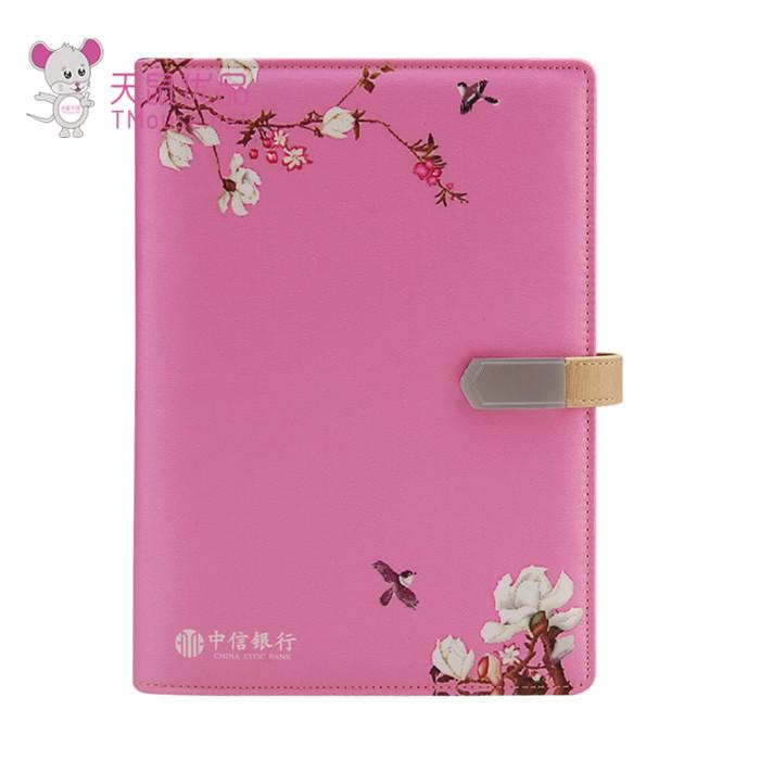 刺绣能充电的笔记本可定制LOGO 个性精美能充电的笔记本 天鼠优品
