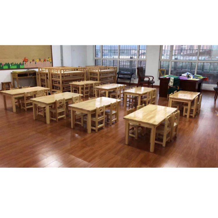 桌椅套装定制 学校桌椅套装报价 恒华 实木桌椅套装定制