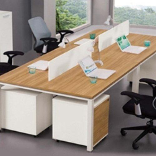 油漆屏风员工桌定制 致美 现代屏风员工桌定做