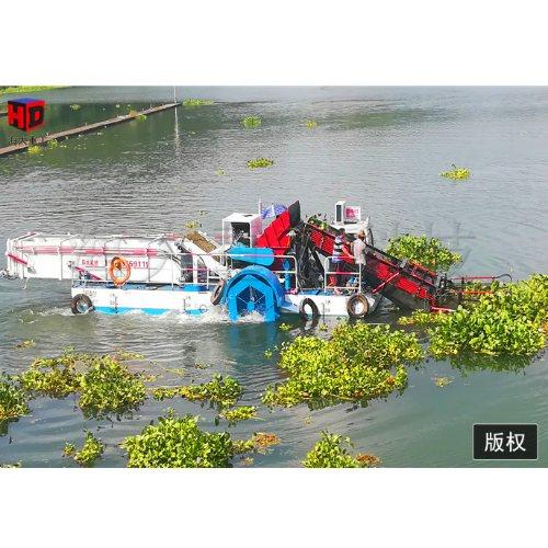 海大重工 白洋淀芦苇采集船 山东专业的采集船演示过程
