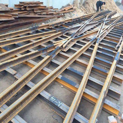 复式交分道岔大量批发 钢轨道岔长期供应 滏金金属制品