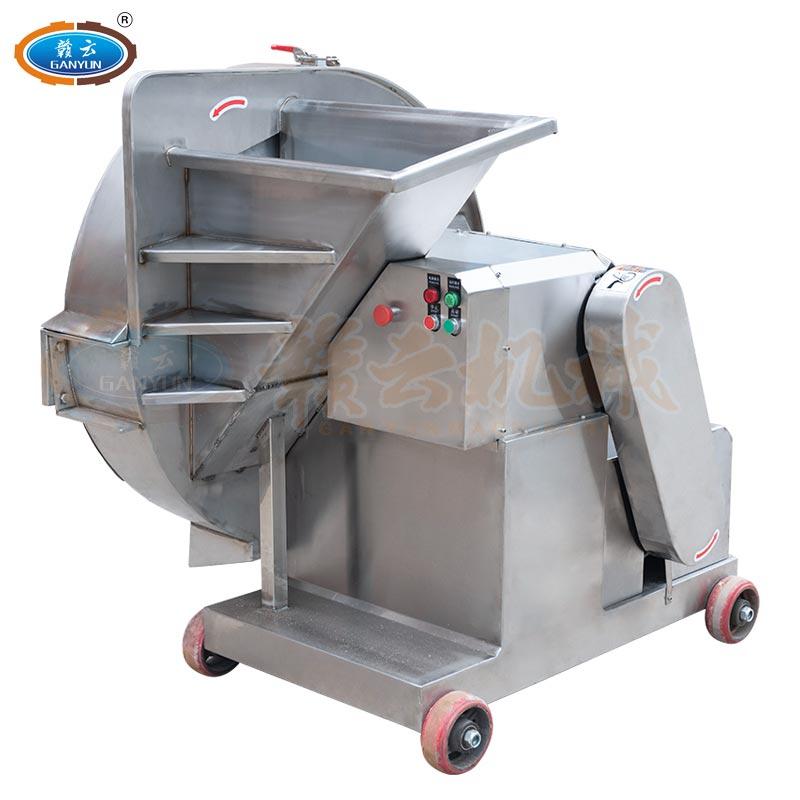 不锈钢大型冻肉刨片机冷冻肉直接切片机