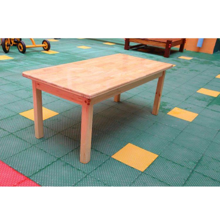 实木儿童课桌椅定制 恒华 培训班儿童课桌椅图片