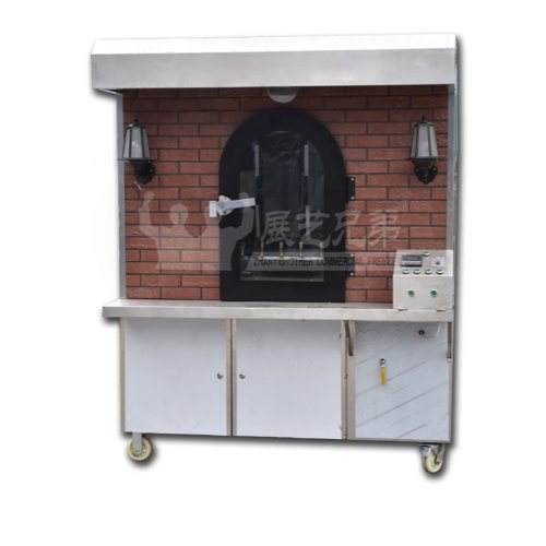 烤鸡店专用烤鸭炉定做 气碳两用旋转烤鸭炉 展艺兄弟