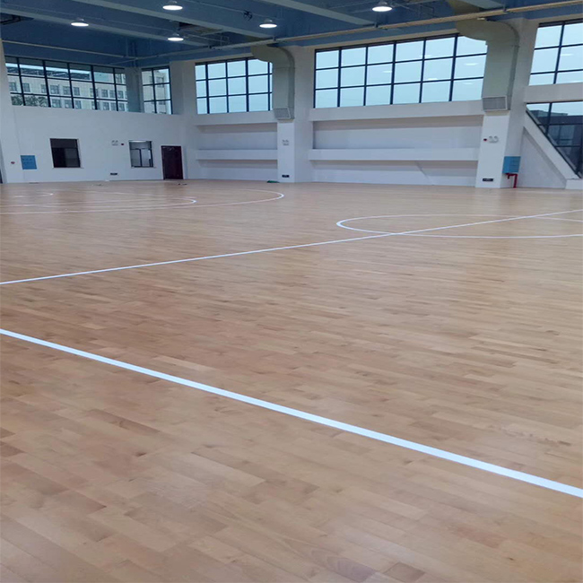 运风 实木运动体育木地板实安装 专业运动体育木地板定制
