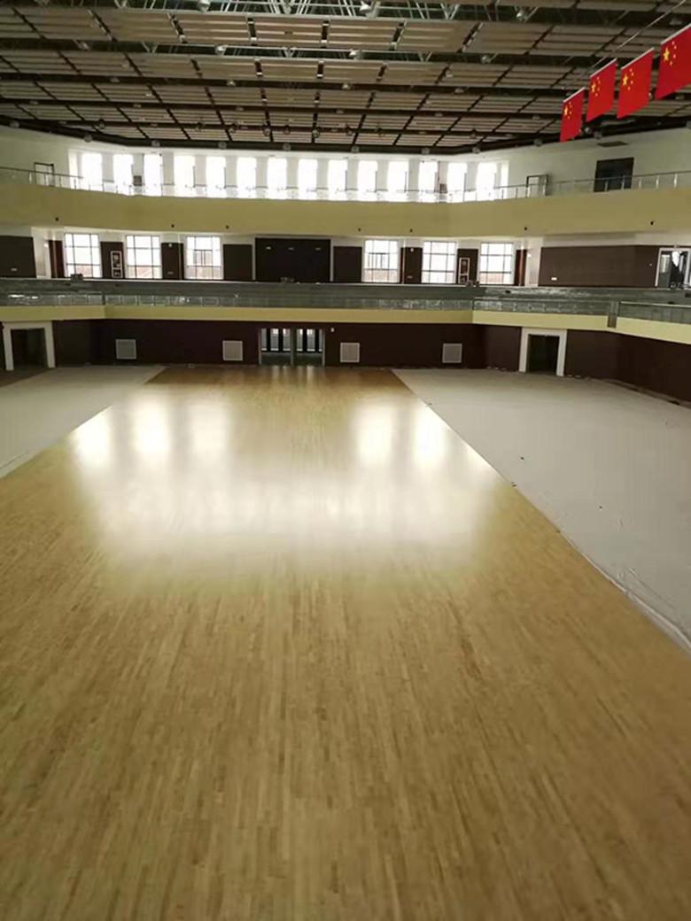 阿坝橡胶木运动木地板 体育馆橡胶木木地板 可加工定制