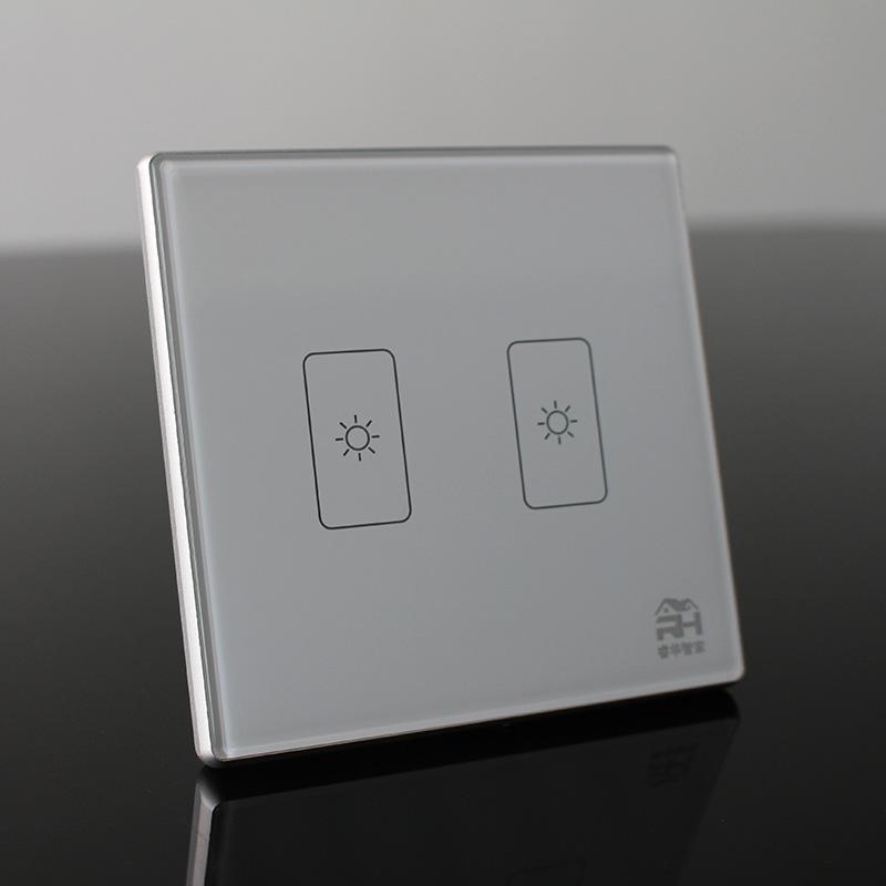 睿华智家二路智能开关RM7N1 零火供电照明 2.4G ZigBee协议 智能多联绑定智能家居系统全无定制招商加盟