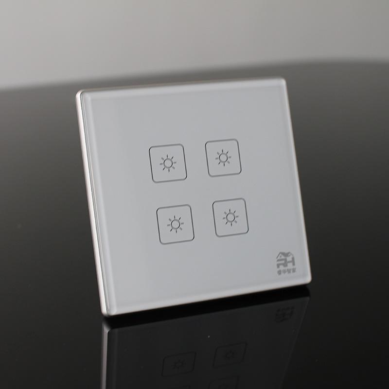 睿华智家四路智能开关RM7N1 零火供电照明 2.4G ZigBee协议 智能多联绑定智能家居招商加盟