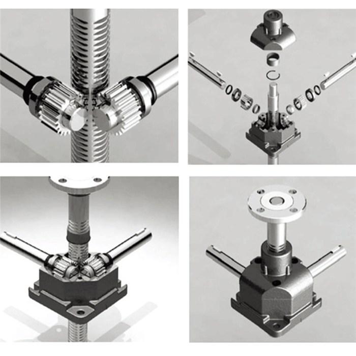 小型螺杆升降机SJ螺旋丝杆升降朵生产 东迈