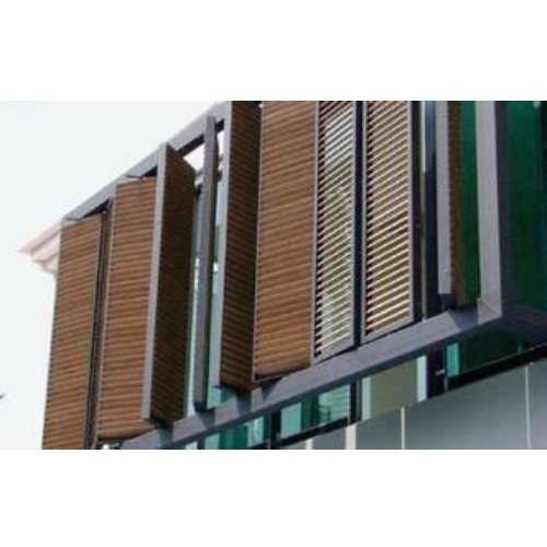 通风外墙百叶窗一手货源 来图加工外墙百叶窗工程优选 昊博
