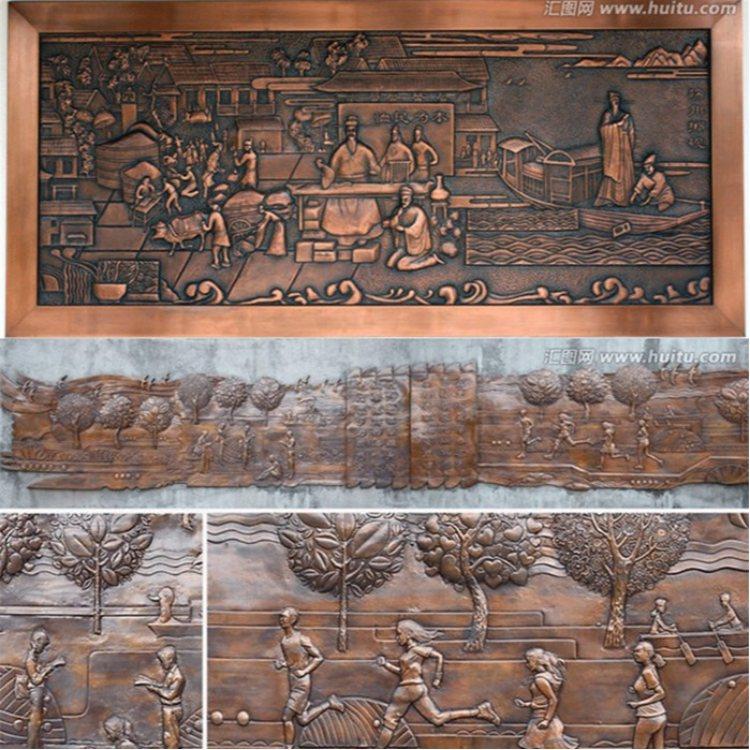 大型铜背景墙 铜背景墙 昌宝祥 铜背景墙设计