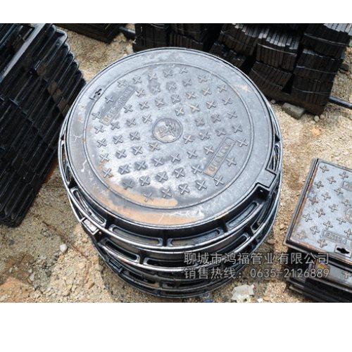 直径700铸铁方形井盖规格型号 重型铸铁方形井盖销售处 鸿福管业