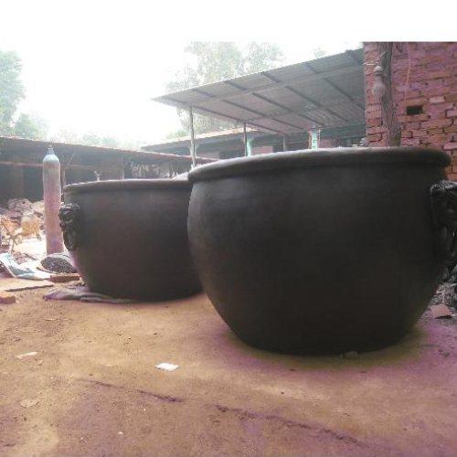 1.3米铜大缸厂 风水铜大缸生产厂 恒保发铜雕 1.3米铜大缸批发
